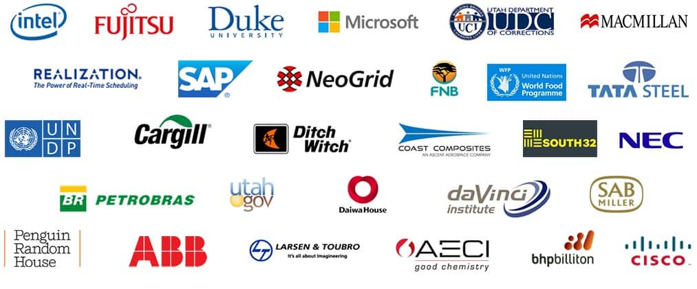Logos of Organizations with whom Goldratt Research Labs have collaborated